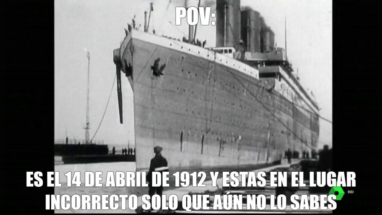 eres parte de la tripulación del titanic - meme