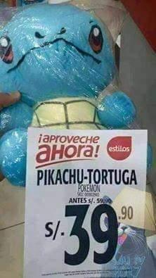 Melhor pokemon o pikachu tartaruga - meme