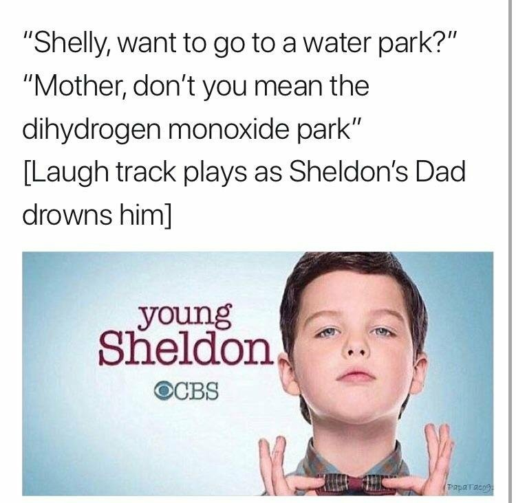Young Sheldon - meme