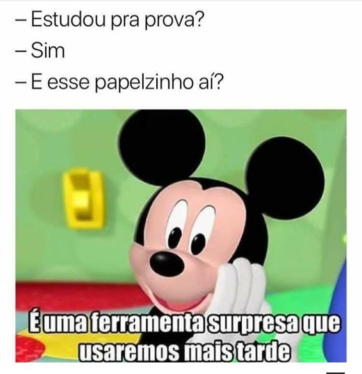 Mickey ixpertinho - meme