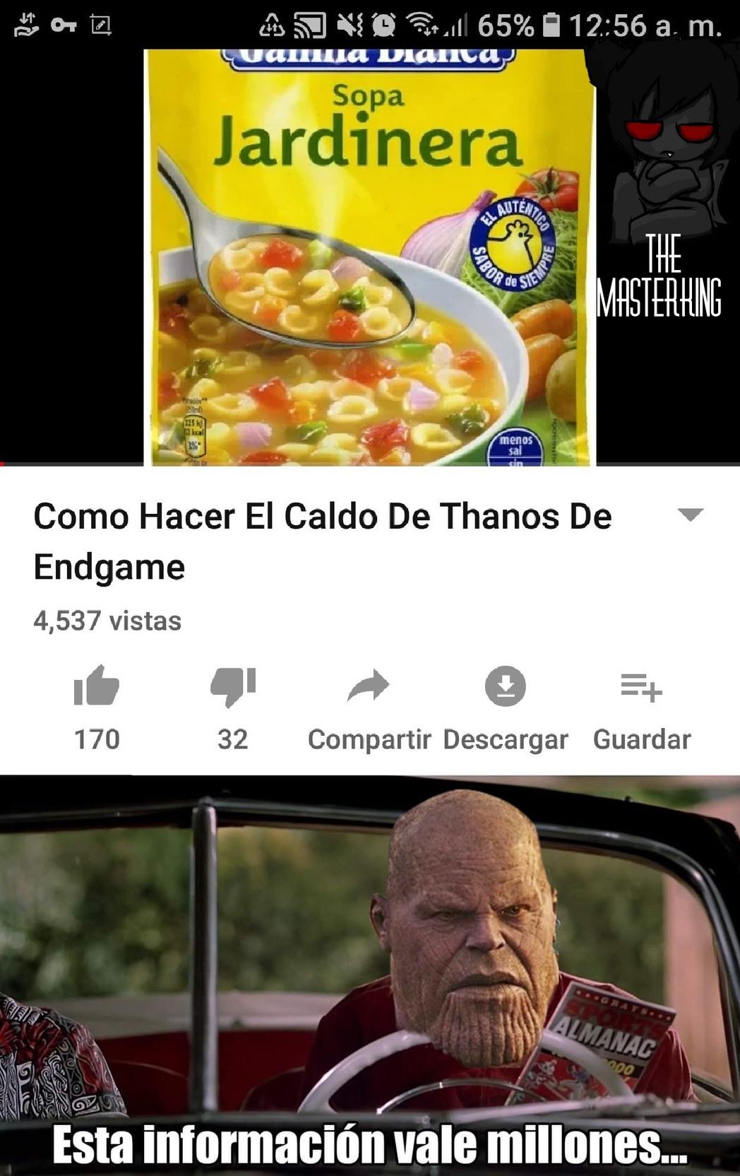 El Thanos otra vez - meme