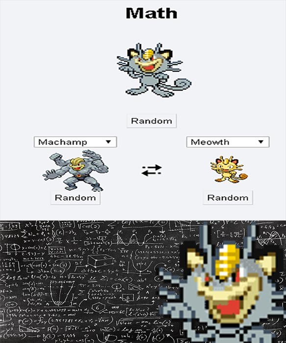 Math, I choose you! - meme
