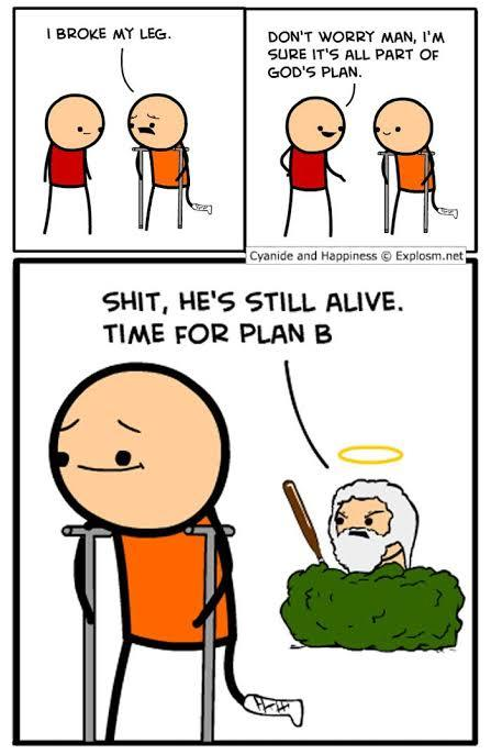 Gods plan - meme