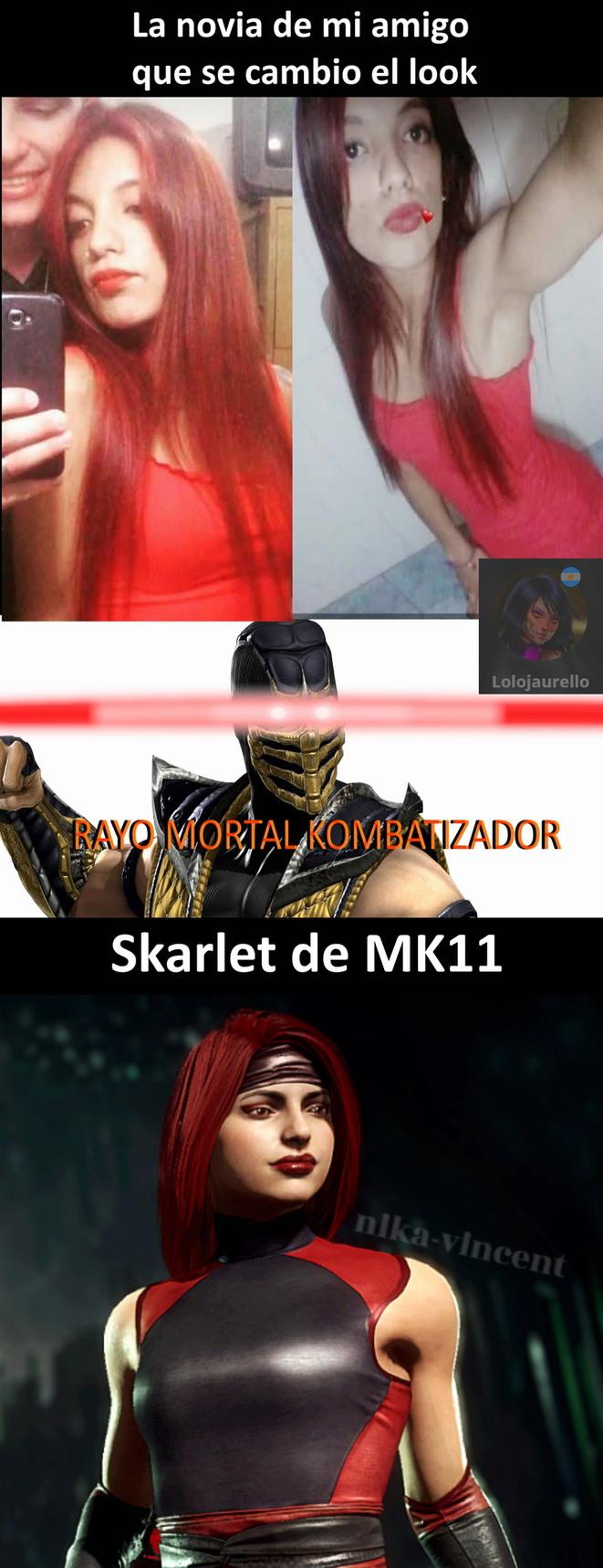 Skarlet wins!... no se preocupen, el chico me dio permiso de usar las fotos - meme