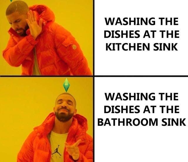 I spent over 5,000 simoleons on your kitchen! SO USE IT! - meme