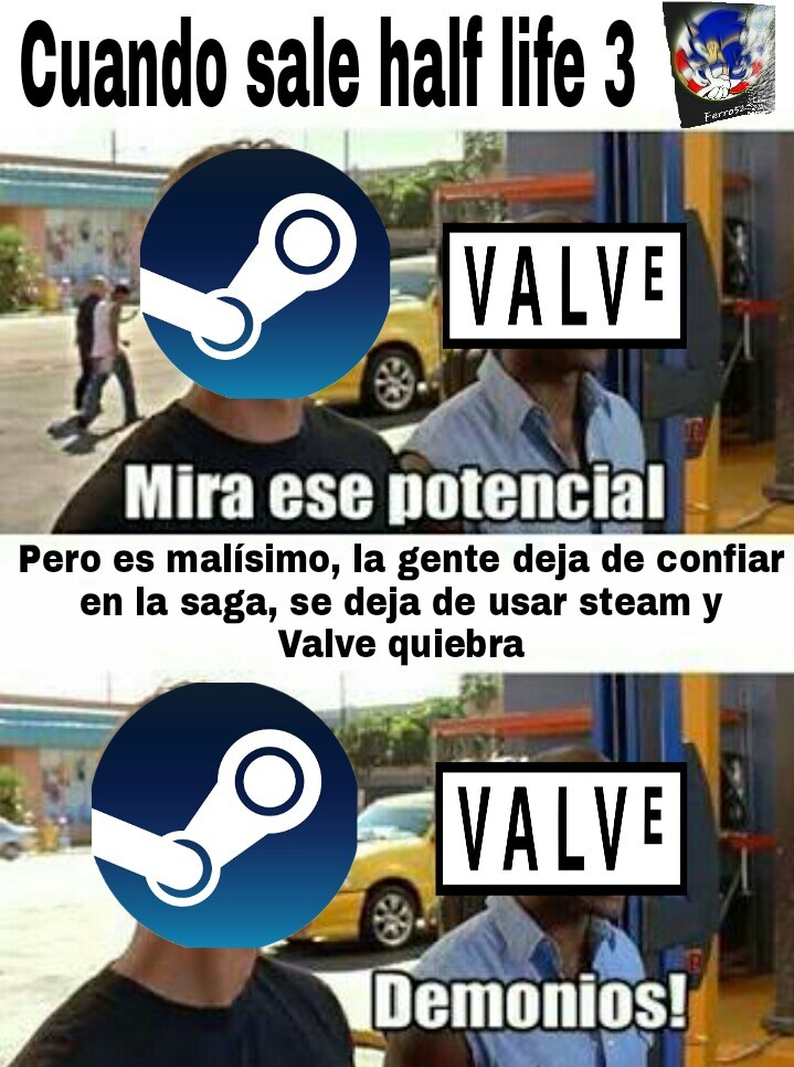 Valve y su tan irreal half life 3 - meme