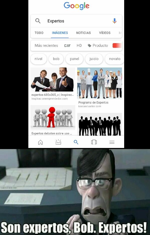 Expertos - meme