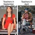 Teachers in September vs teachers in April