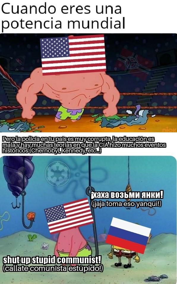 No apoyo a ninguno de los 2 - meme