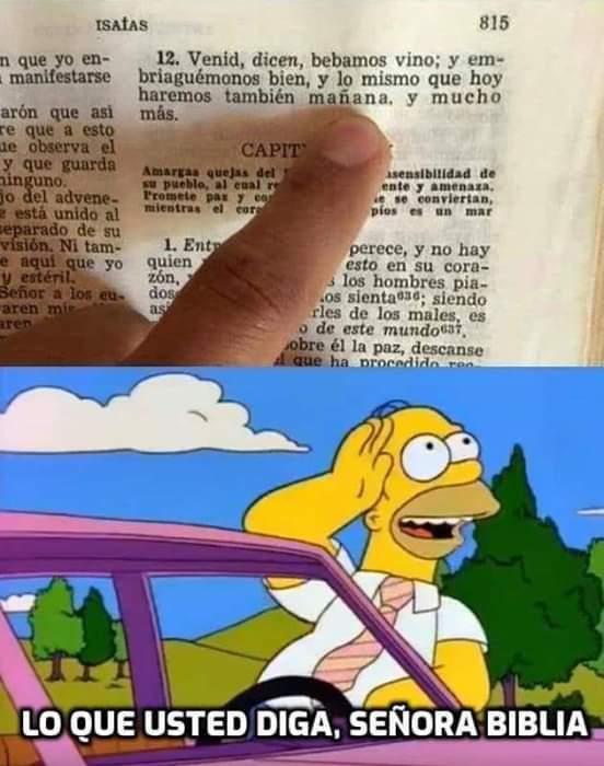 La biblia a hablado - meme