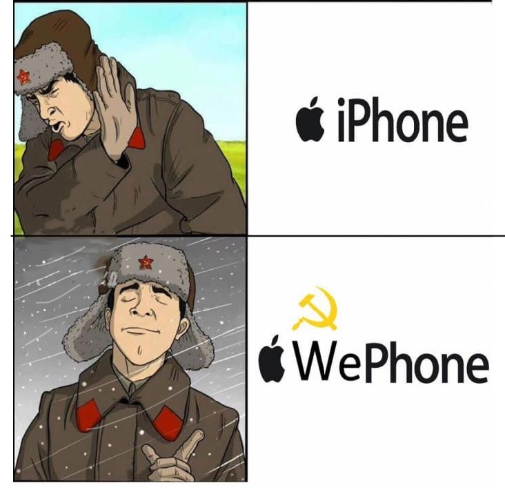I'm gonna buy a we phone - meme