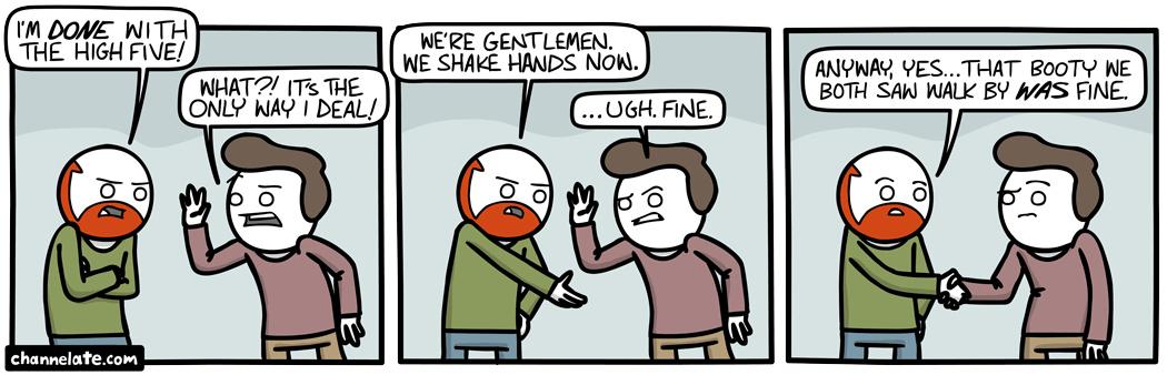 hand shake - meme
