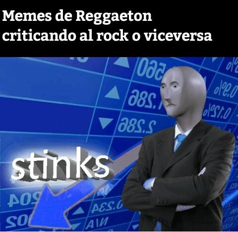 ¿recuerdas la guerra de doblajes? Volvió, en forma de reggaeton vs rock - meme