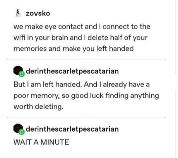Left handed - meme