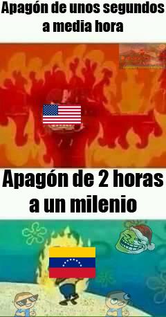 En un día normal en Venezuela no hay electricidad 26 horas al día - meme