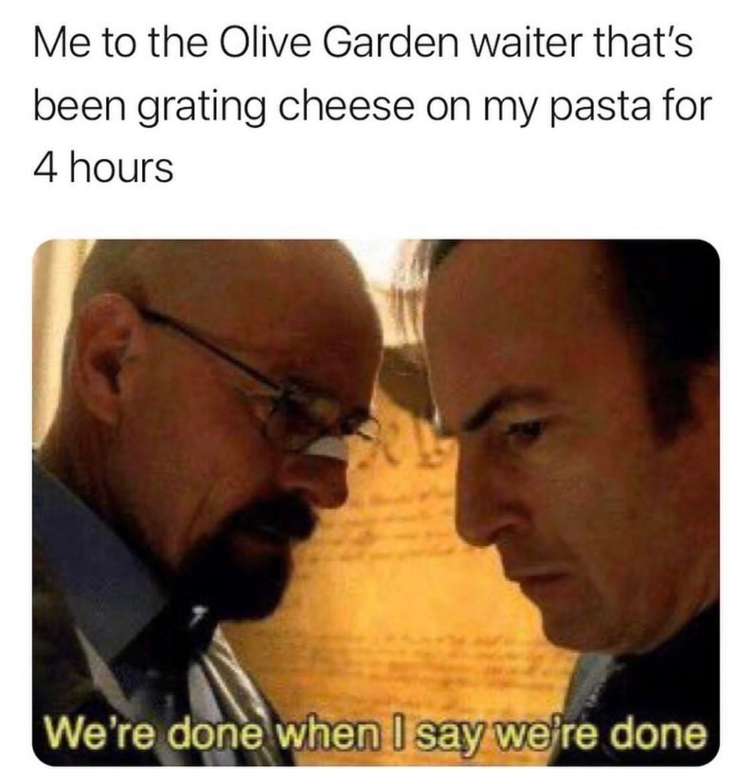 Now that's a lot of cheese - meme