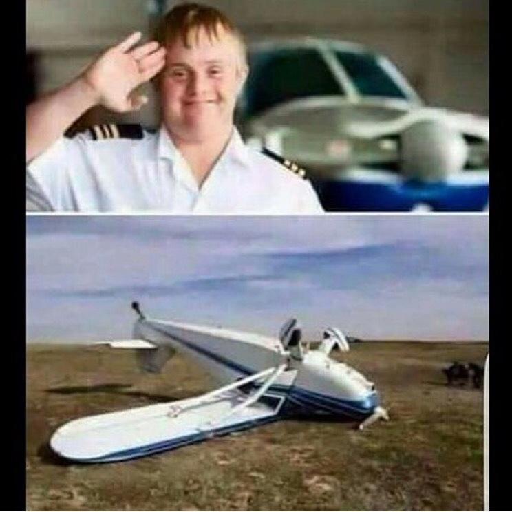 iiiii o aviao ta down - meme