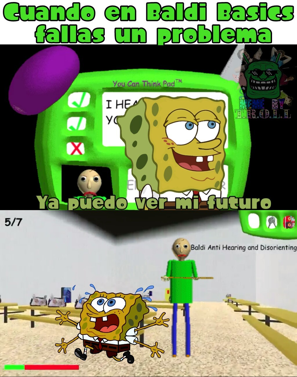 El juego mas extraño de terror D: - meme