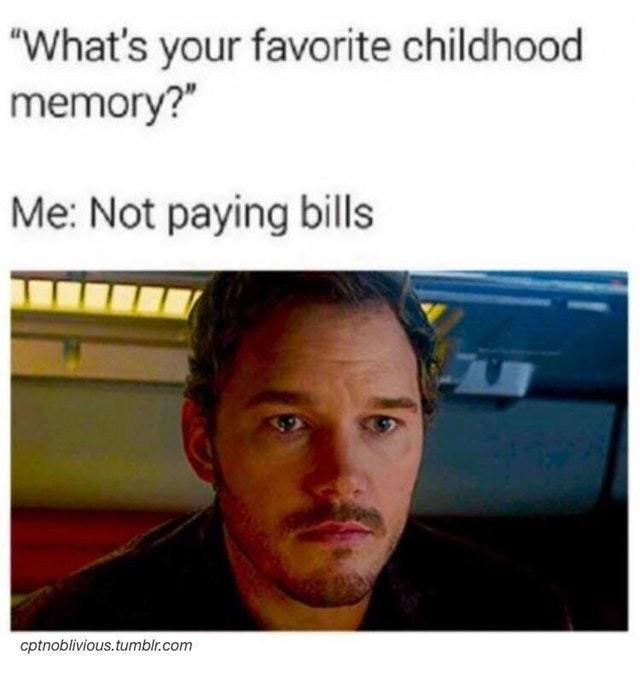My favorite childhood memory - meme