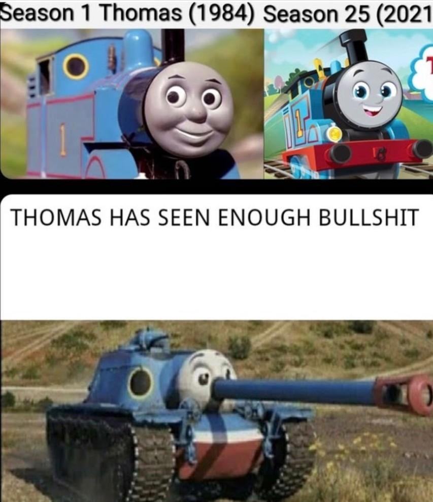 thomas já viu tourobosta demais >:( - meme