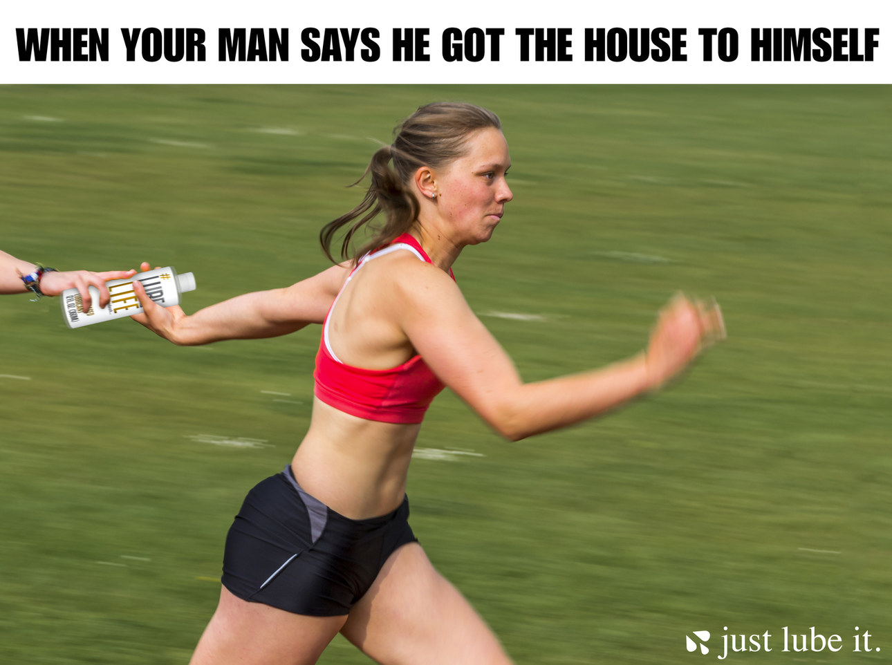 when your man says he got the house to himself - meme