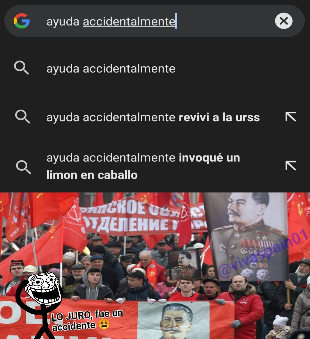 Ayuda accidentalmente reviví la URSS  - meme
