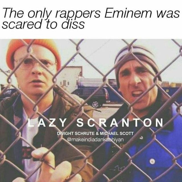 The only rappers Eminem was scared to diss - meme