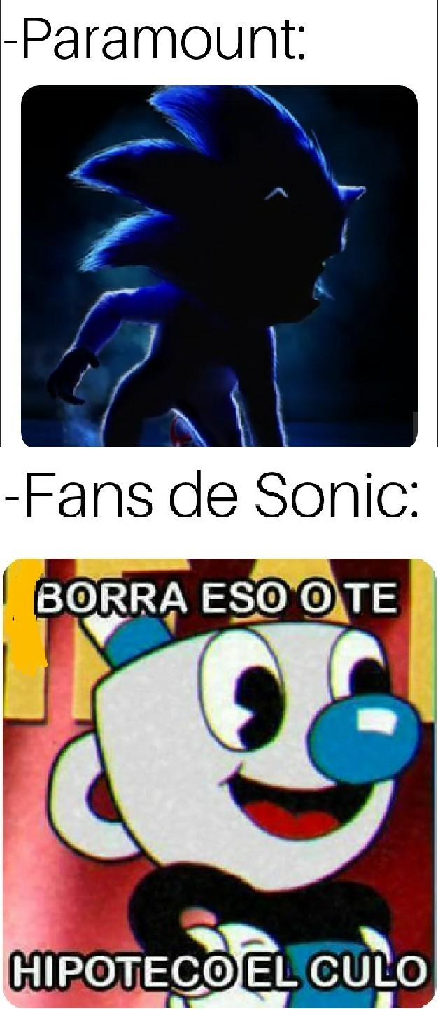 Sonic no queda bien realista, hubieran puesto al de siempre pero con pelo y nadie se quejaba - meme