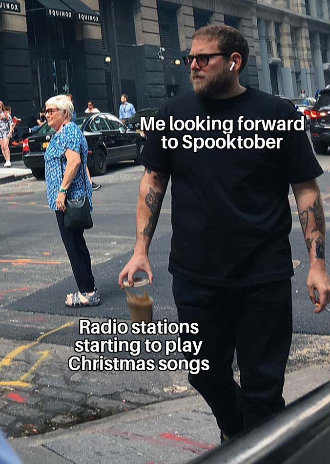 I hate Christmas songs. - meme
