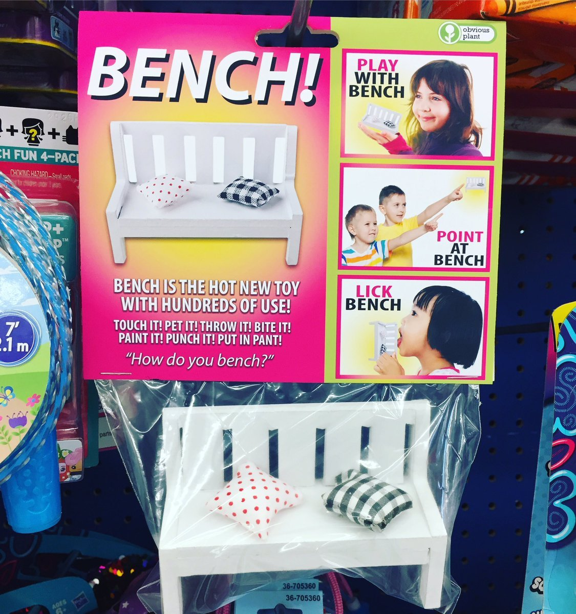 I need to lick the bench - meme
