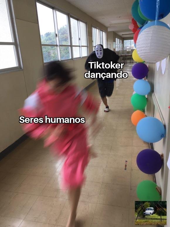 Tiktok vai acabar com a humanidade - meme