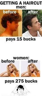 Haircut = Expensive - meme