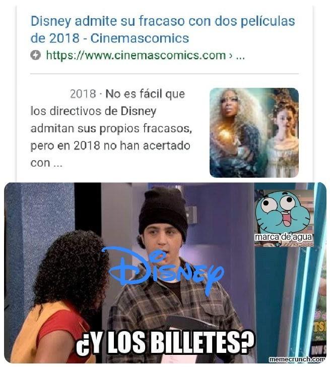 Disney quiere su dinero. - meme