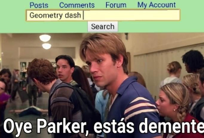 Parker estas demente - meme