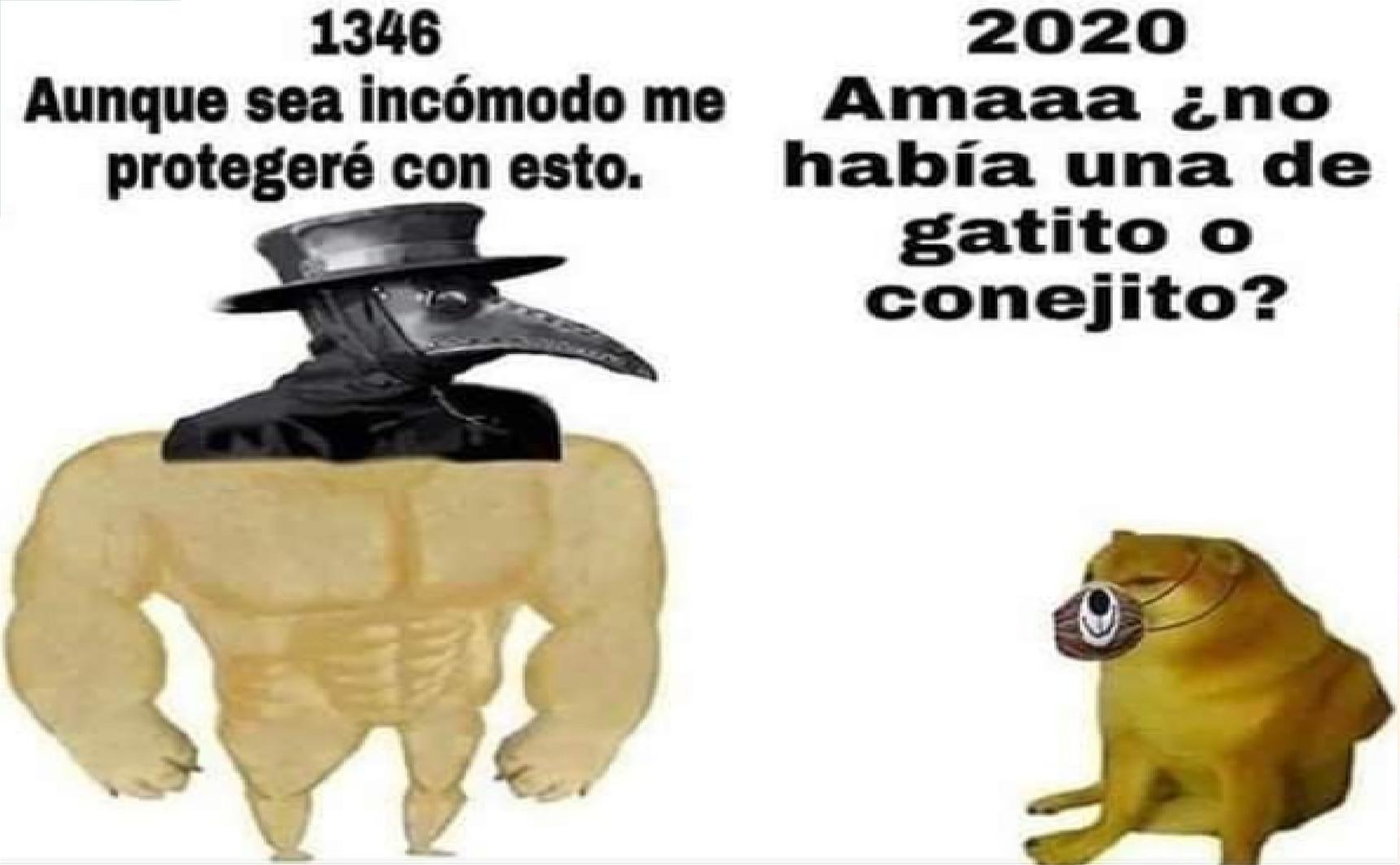 1346 vs 2020 - meme