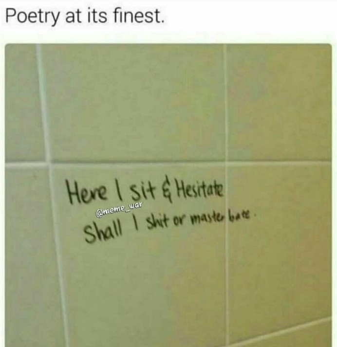 First comment should be poetic - meme