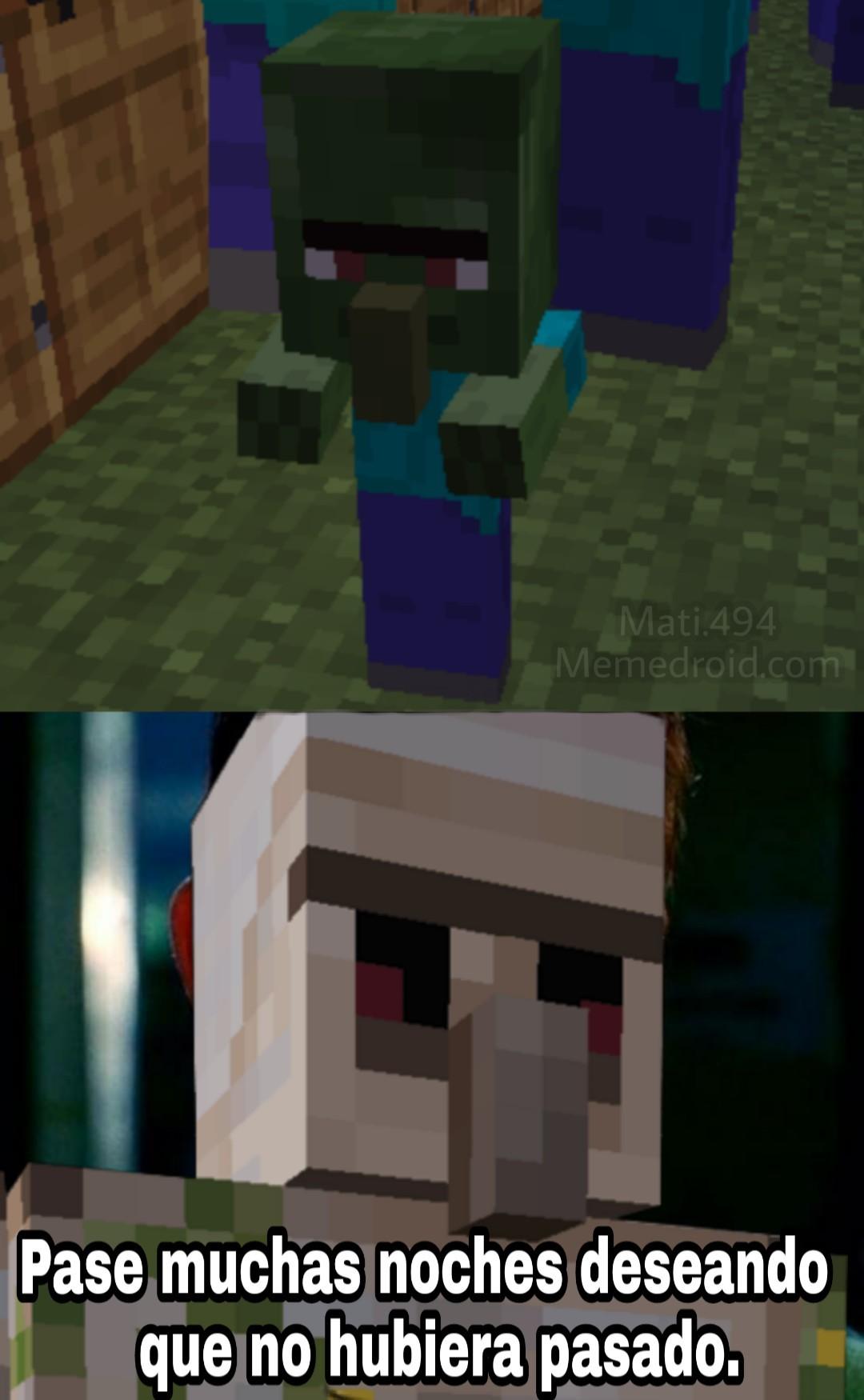 Tipo de aldeanos: El enojado - meme
