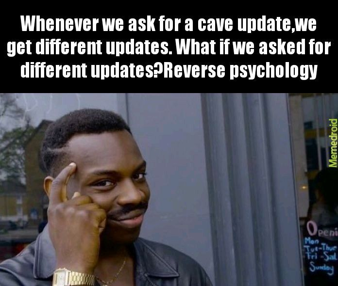 Minecraft cave update - meme