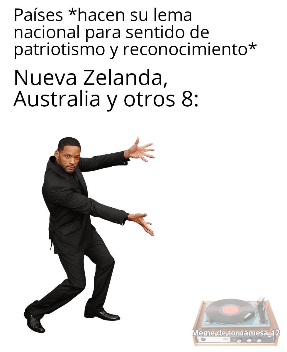 Contexto: No tiene lema nacional oficial - meme