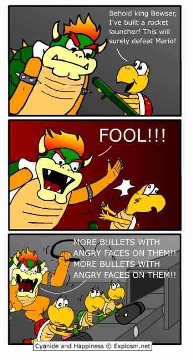 Bowser logic (>_<) - meme