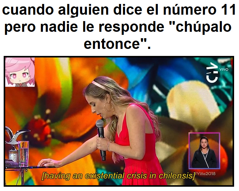 [starts dying in chilensis] - meme