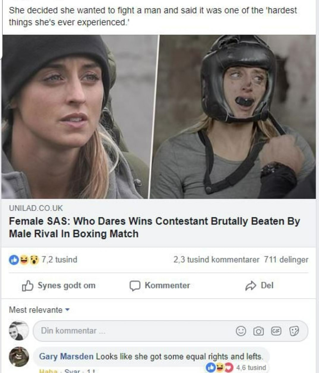 It's almost like men are biologically built for combat - meme