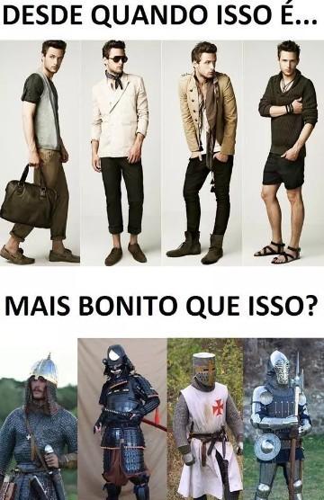 Moda do homem - meme