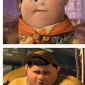 kid from up and the guy from turbo