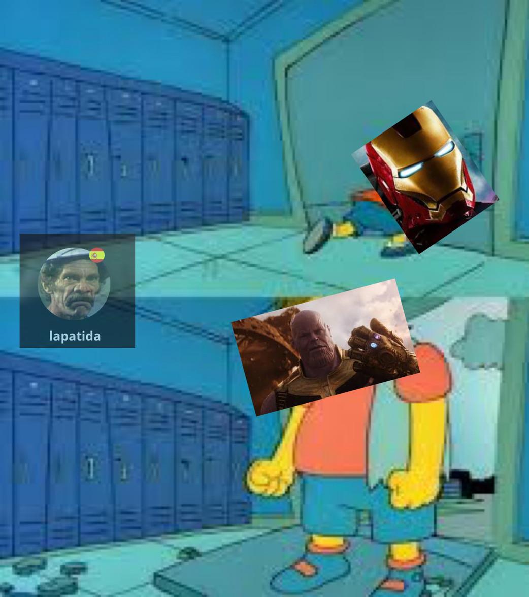 Pobre Iron Man - meme