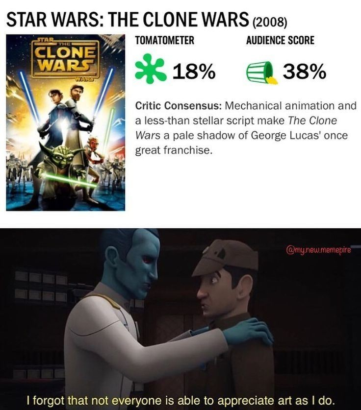 The clone wars was gold - meme