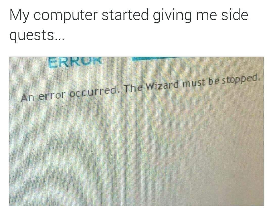 Smite the wizard! - meme