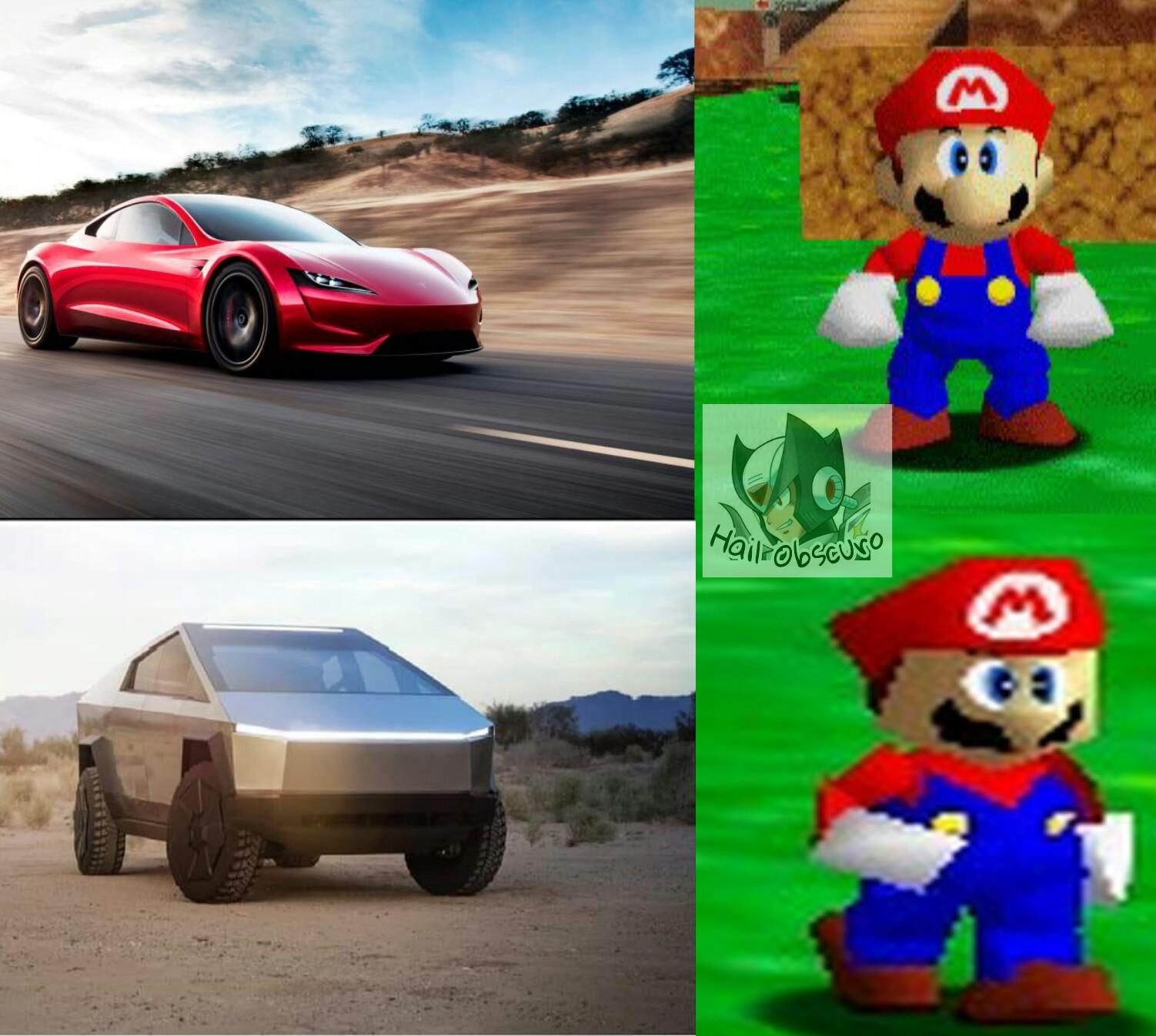 Mario de pocos poligonos - meme