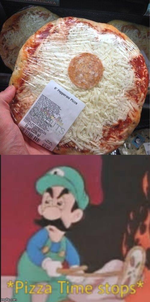 Pizza time stops - meme