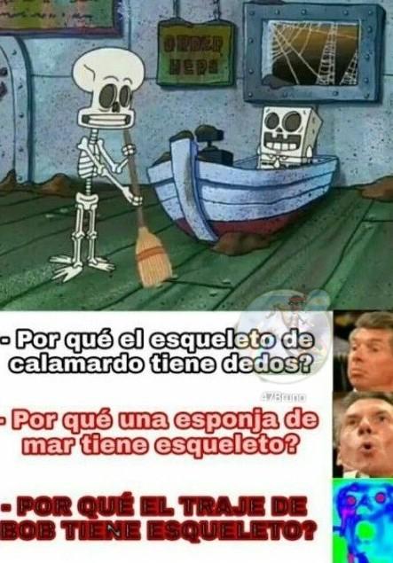 El esqueleto - meme